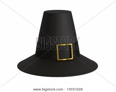 A render of an isolated pilgrim hat