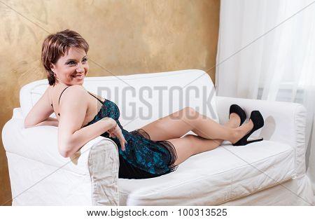 Nice woman in luxury lingerie