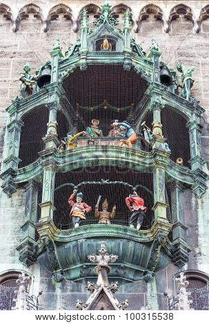 The Glockenspiel at Marienplatz, Munich, Germany