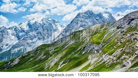 Mountain Scenery By Summer