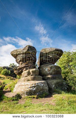 Twin Rocks At Brimham