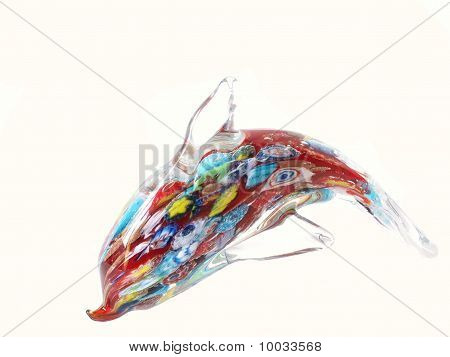 Colorful Glass Dolphin