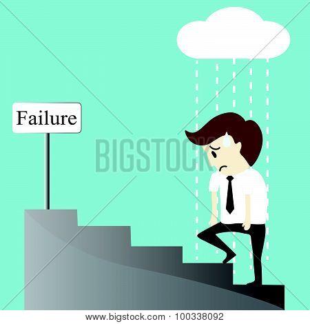 Depression Bankruptcy Unemployed Sadness Hopeless Businessman