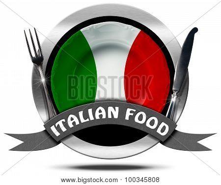 Italian Food - Metal Icon