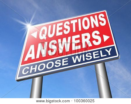 questions answers ask the right question and get an answer help or support desk solve problems and find solutions road sign