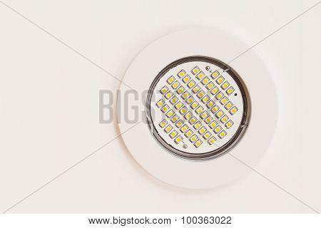 Gu10 led light mounter into the ceiling