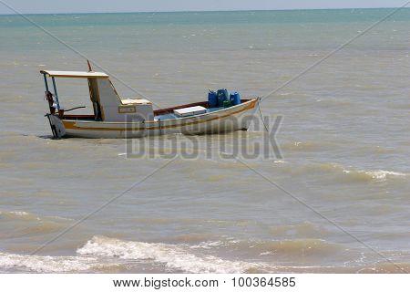 Boat In Coast Of Brazil