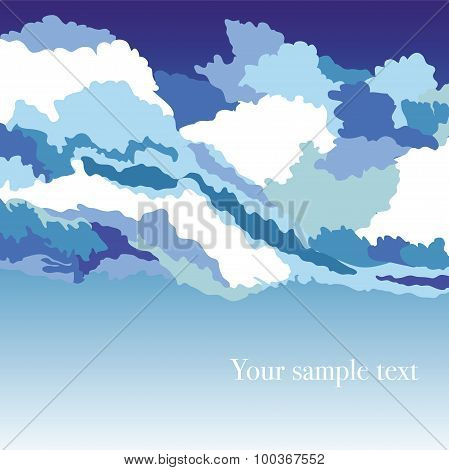 Abstrakt background with sky and clouds