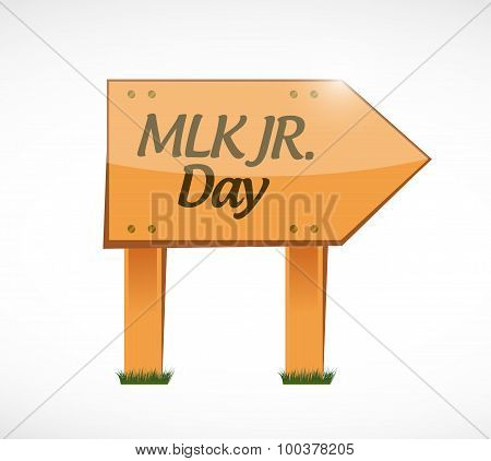 Mlk Jr. Day Wood Sign Illustration Design