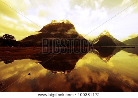 Mountains In New Zealand Mystery Nature Concept