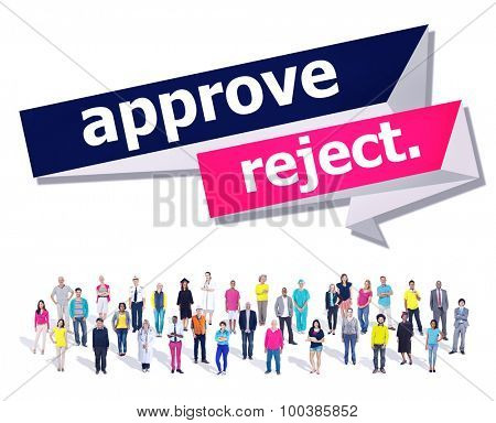 Approve Reject Cancelled Decision Selection Concept poster