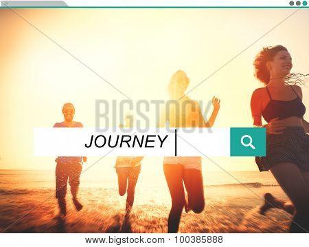 Journey Travel Destination Expedition Exploration Concept poster