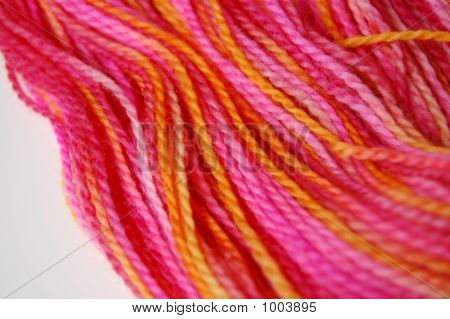 Pink And Orange Yarn