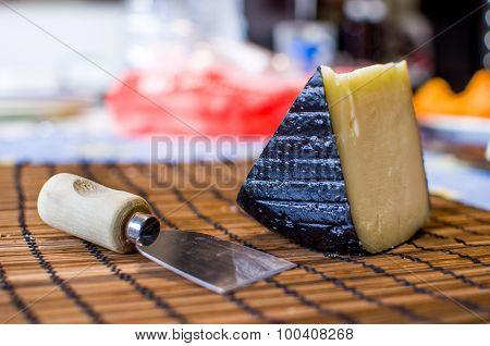 traditional pecorino italiano sardo cheese background italian food