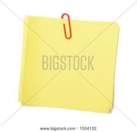 Yellow Adhesive Note