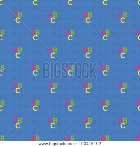 Seamless Pattern With Letters Of The ABC