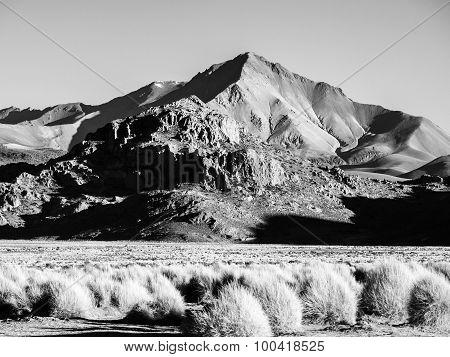 Mountain landscape of Cordillera de Lipez in Bolivia