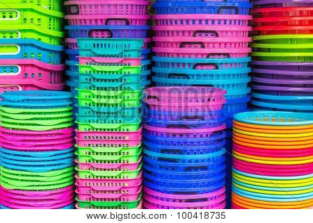 Colorful Recycled Plastic Buckets.