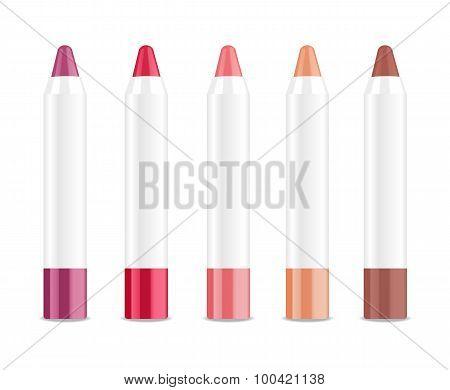 Lip stick. Vector