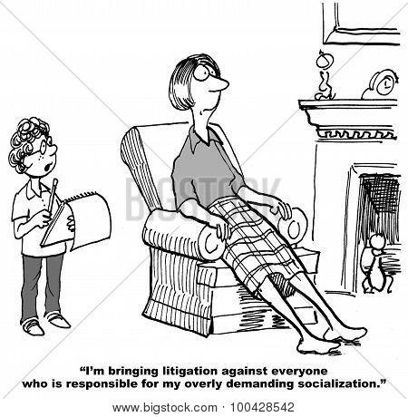 Son is Bringing Litigation