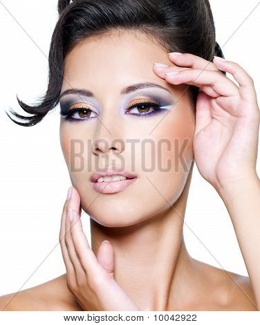 Glamour Woman With Modern Fashion Makeup