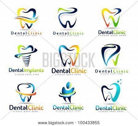 Dental Dentist Logo Set