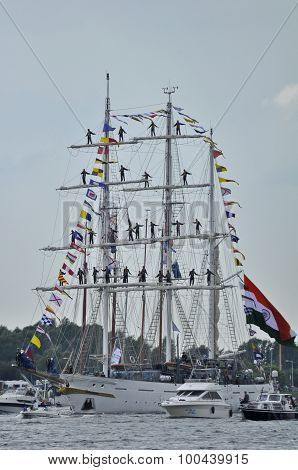 The Tarangini Tall Ship On The Ij River