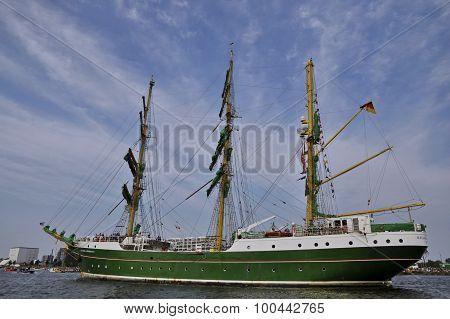 The Alexander Von Humboldt Cruising Under The Blue Sky