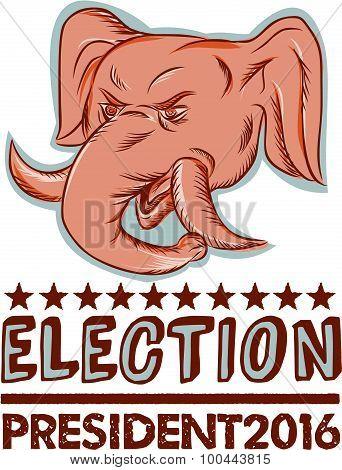 Election President 2016 Republican Elephant Mascot