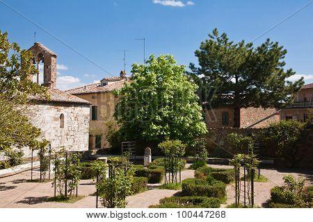 Old Roman Church In Garden