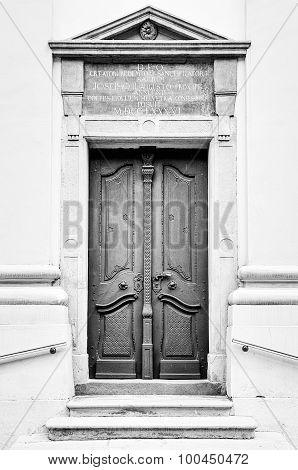 Doorway to Reformed Church, Transylvania, Romania