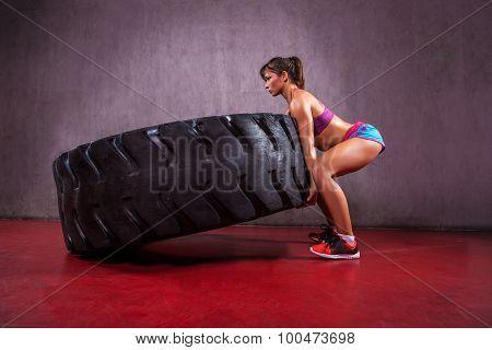 Tire flipping.