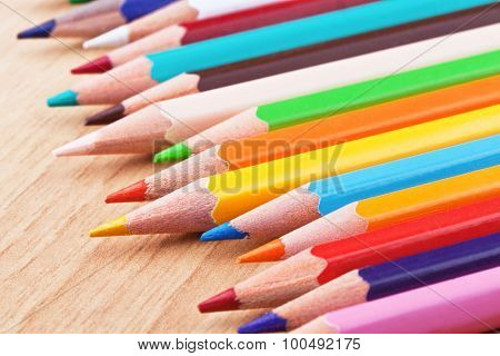 close up image of classic colored pensils