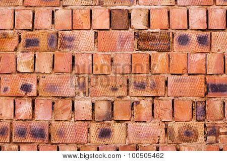 Red Brick Wall From Big Blocks