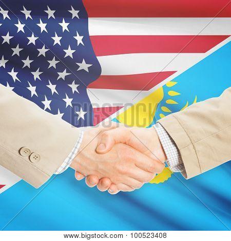 Businessmen Handshake - United States And Kazakhstan