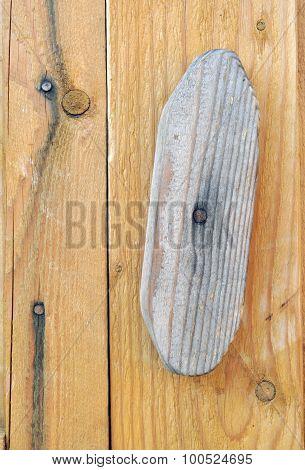Wooden Door with Rotating Latch