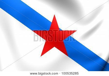 Socialist Nationalist Galician Flag