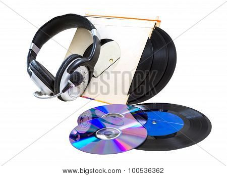 Headphones, Vinyl Records, Cds,
