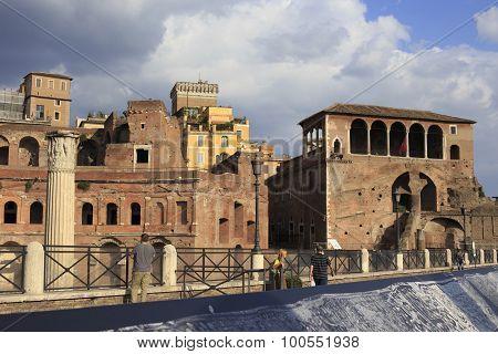 The Via Dei Fori Imperiali In Rome, Italy