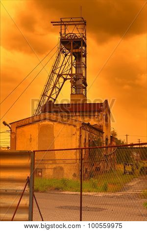 Coal mine in the sunset