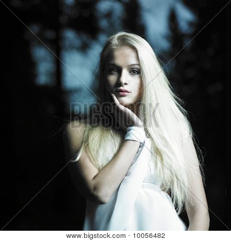 Girl In Fairy Forest