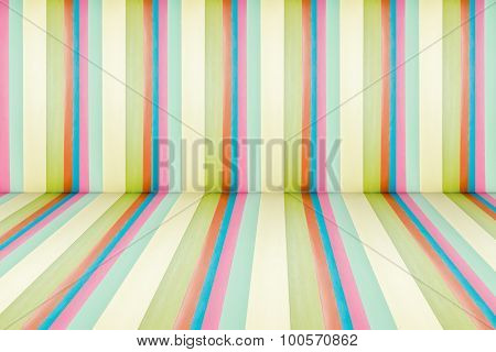 Rainbow Leather Texture Perspective Room