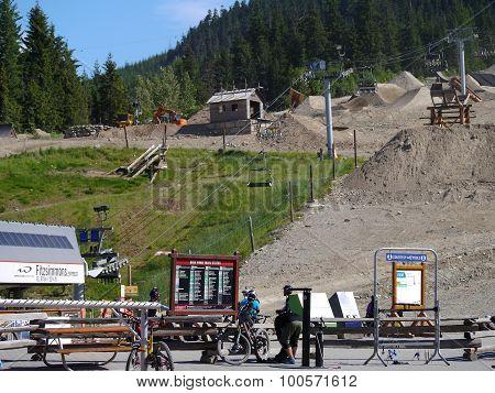 Whistler Bike Park in Early Summer