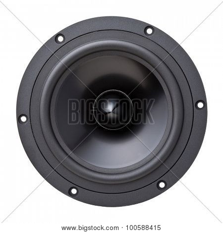 closeup image of woofer speaker