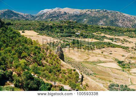 Summer Andalusian Lanscape Near Ronda, Spain