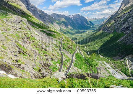 Trollstigen - Famous Mountain Road In Norway
