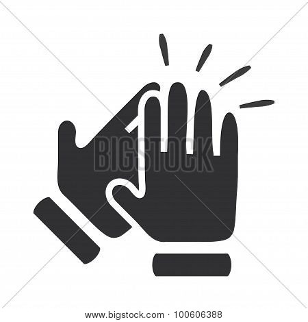 Hands clapping symbol. Vector icons