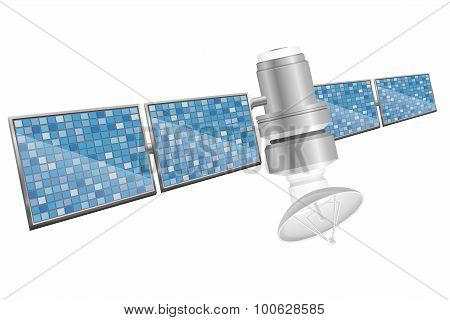 Earth Satellite Sputnik Vector Illustration