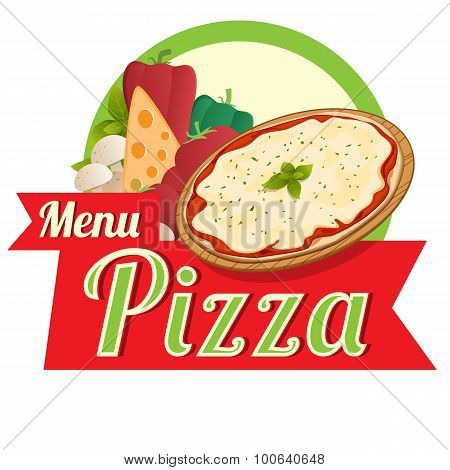 Menu pizza