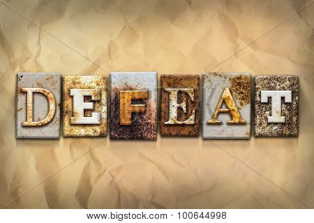 Defeat Concept Rusted Metal Type